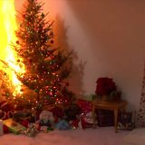 Christmas Tree On Fire